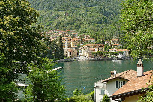 Italy, Lake Como, Lenno, Lake, Holiday, City, Old Town