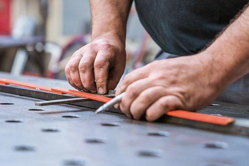 Craft, Craftsmen, Measure, Metal, Work Bench, Pencil