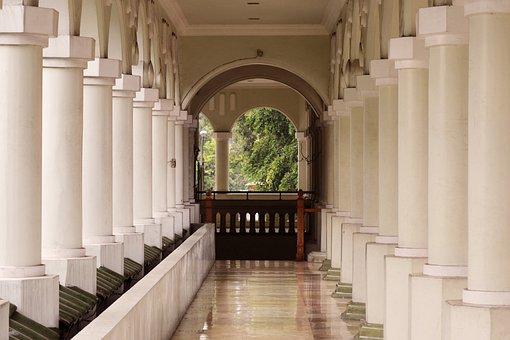 Pillars, Architecture, Pillar, Mosque, Hallway