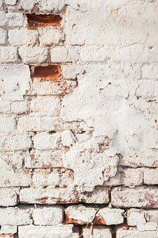 White Wall, Red Brick, Brick, Red, House, Old