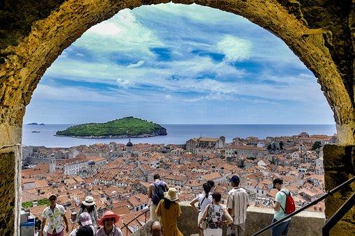 Dubrovnik Croatia Summer Time, Travel, Panoramic