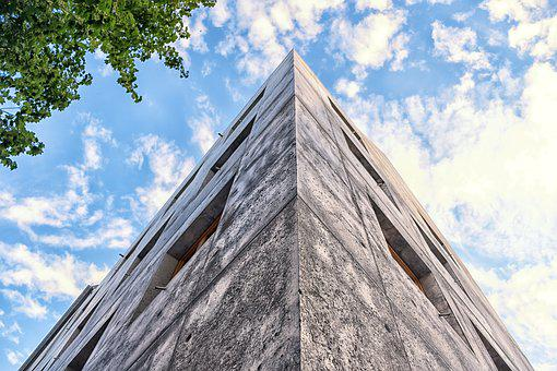 Concrete, Blocks, Pattern, Texture, House, Sky, Cloud