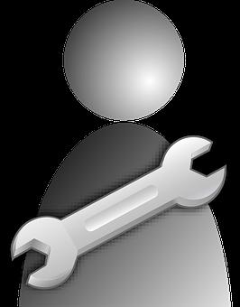 Handyman, Wrench, Workman, User, People, Job, Work