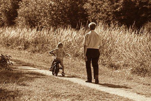 Person, Man, Child, Grandfather, Grandchild, Two