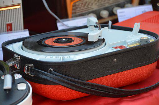 Turntable, Retro, Music, Disk, Sound, Music Device