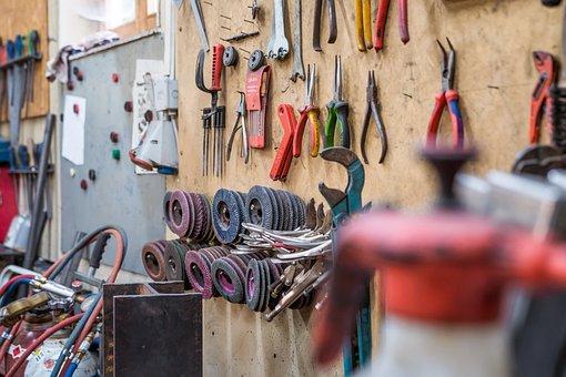 Tool, Workshop, Grinding Wheels, Pliers, Craft, Work