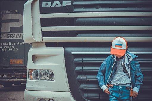 Fouras, Trucker, Boy, Truck, Transport, Baby, Car