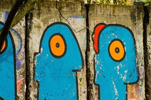 Berlin Wall, Graffiti, Berlin, Wall, Mural, Sprayer