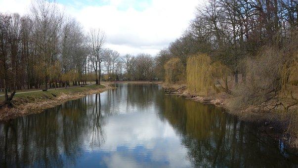 River, Water, Nature, Toruń, Poland, Landscape, Clouds