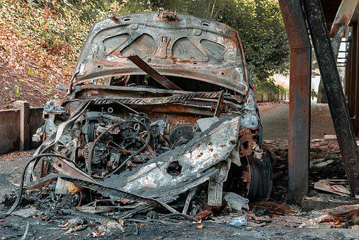Car, Burned, Rusty, Wreck, Vehicle, Accident, Brule