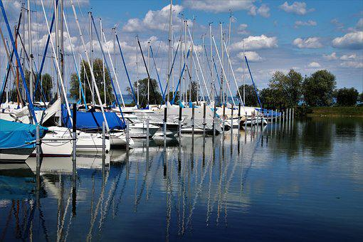 Port, Yachts, The Coast, Boat, Reflection, Boats, Water