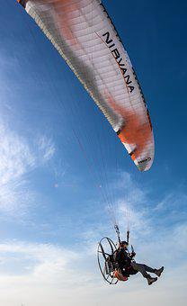 Paragliding, Parachute, Sky, Adventure, Fly, Air Sports