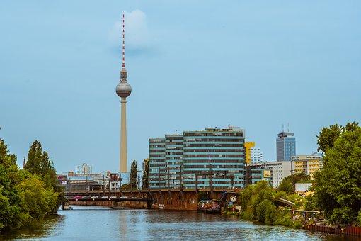 Berlin, Tv Tower, Tower, Transmitter, City, Capital
