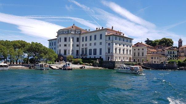 Boromeo, Castle, Stresa, Lago Maggiore, Lake, Island