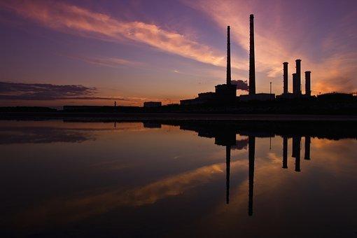 Industry, Chimneys, Dublin, Industrial