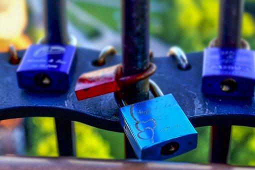 Castles, Love Locks, Colorful, Love, Padlock