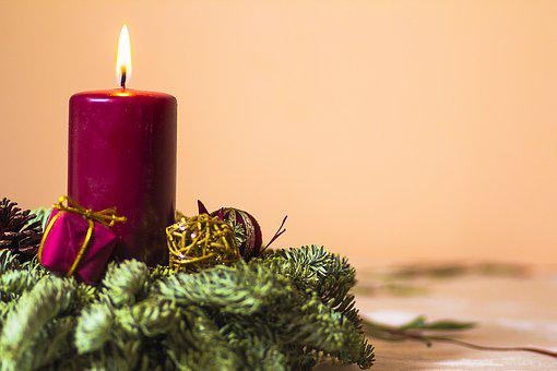 Holidays, Candle, Decoration, Winter, Dec