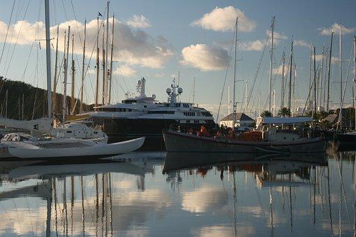Boats, Early Morning, Dock