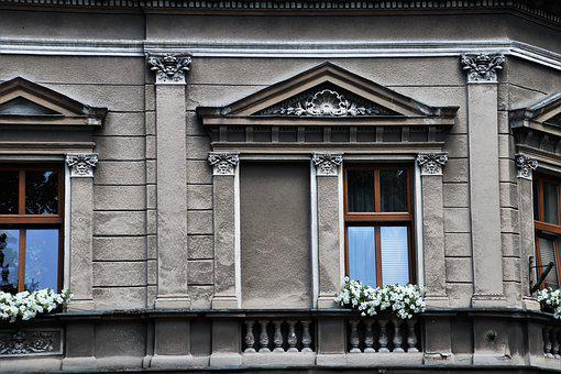 Old House, Window, Facade, Plaster, Architecture