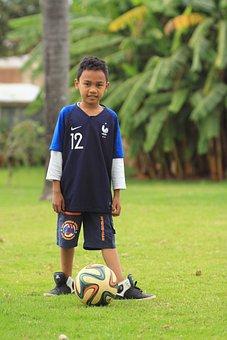 Football, Kid, Boy, Sports, Soccer, Outdoor, Ball