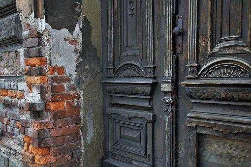 Old Door, Figured It Out, Open, Gates, Ornament