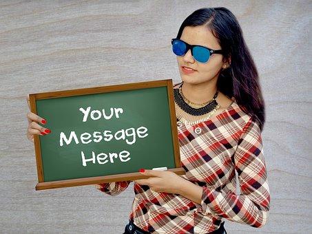 Fiverr, Girl Holding Sign, Sign, Sign Image, Fan Sign