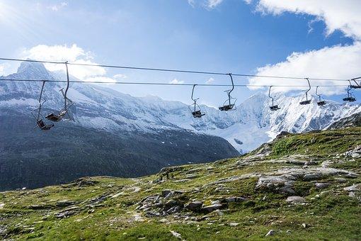 Mountain, Glacier, Alps, Ski Lift
