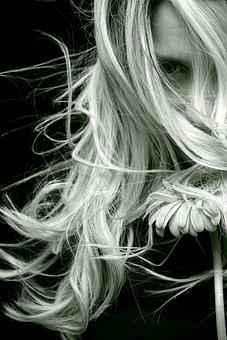 Woman, Hair, Emotional, Romantic, Flower, Look, Adult