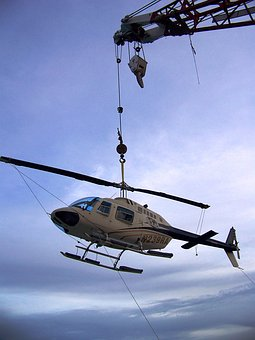 Helicopter, Crane, Lift