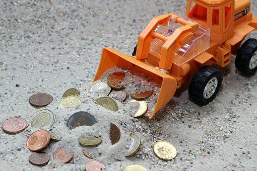 Excavators, Orange, Technology, Metal, Iron, Machine