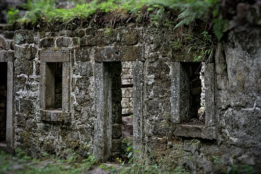 Ruins, Old, Mill, The Disintegration Of The, Shabby