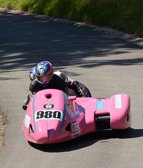 Motorbike, Sidecar, Leaning, Hillclimb, Speed