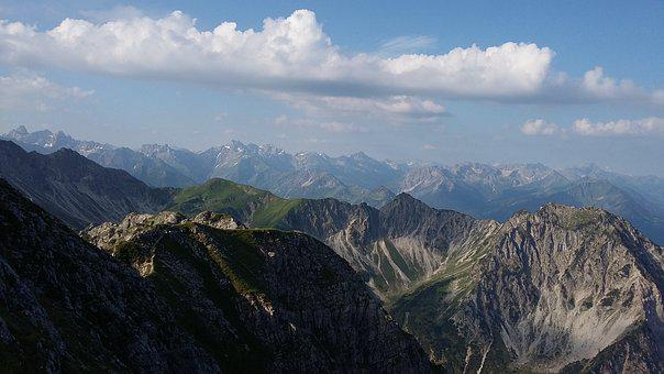 Mountains, Allgäu, Resolutions Of The Head, View
