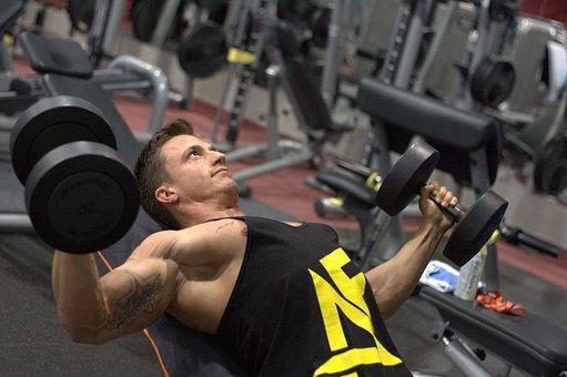Fitness, Strengthening, Muscles, Gym, Dumbbells
