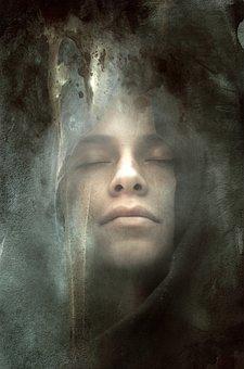 Book Cover, Portrait, Face, Magic, Mysterious, Mystical