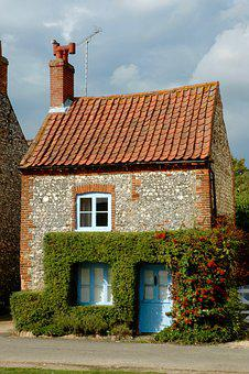 Home, Small, Cottage, Norfolk, Mini, Tile, Tile Roof