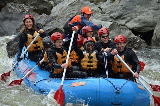 Whitewater, Rafting, Outdoors, Paddling