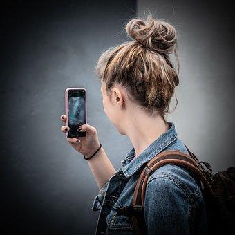 Girl, Young, Cellphone, Mobile Phone, Photo, Photograph