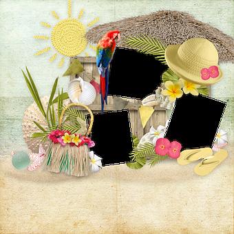 Scrapbooking, Photoshop, Summer, Vacation, Journey