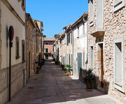 Road, Village, Architecture, Homes, Old, Building