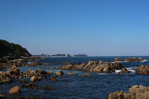 Naksansa, Rock The Beach, Yangyang-gun, Beach, Blue