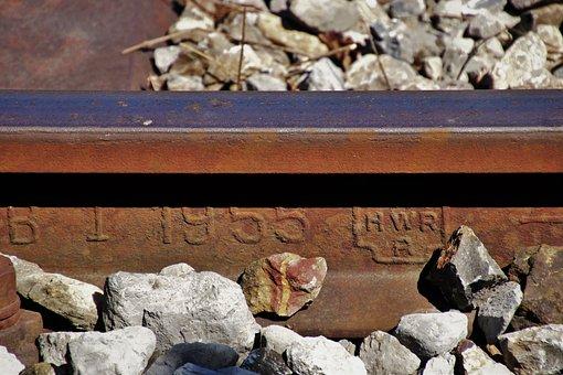 Splint, Rust, Rusty, Rails, Figure, Train, Transport