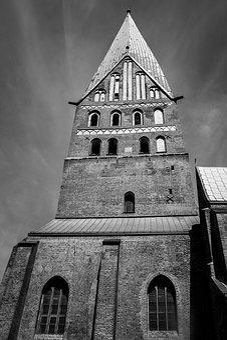 Johanniskirche, Lüneburg, Sands, Black And White