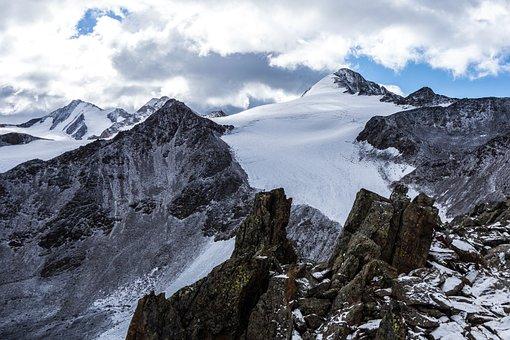 Mountain, Similaun, Austria, Glacier, Alps, Snow