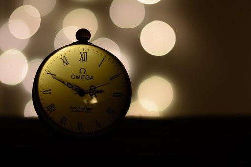 Pocket Watch, Omega, Star, Time