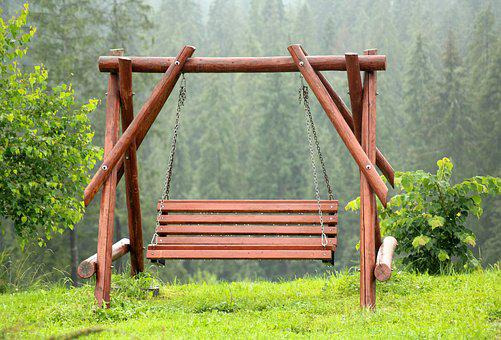 Porch Swing, Bench, Swing, Wooden Swing, Wooden Bench