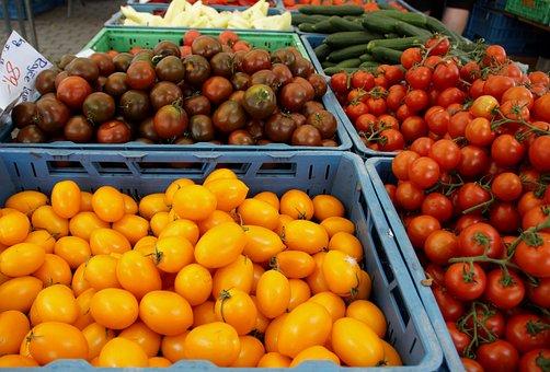 Tomatoes, Tomato, Apples, Red, Yellow, Fresh