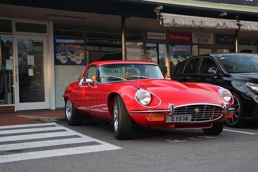 Jag, Jaguar, E-type, Sports Car, Classic, Auto, Vintage