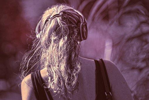 Person, People, Woman, Head, Hair, Head Phones, Music
