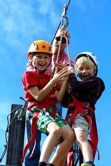 Kids, Zip Line, Children, Child, Kid, Active, Summer